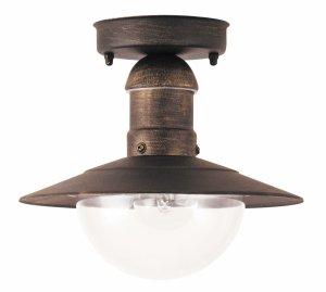 LAMPA ZEWNĘTRZNA PLAFON ANTYCZNY ZŁOTY RABALUX 8736 OSLO
