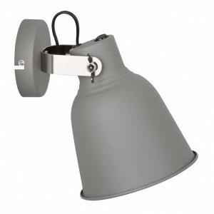 ITALUX VIDAL MB-HN5213L GR+S.NICK LAMPA KINKIET SZARY INDUSTRIALNY