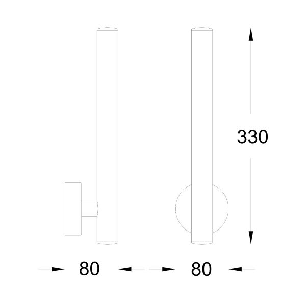 ZUMA LINE W0461-02B-F7F7 LOYA KINKIET ZŁOTY FRENCH GOLD TUBA ZŁOTA