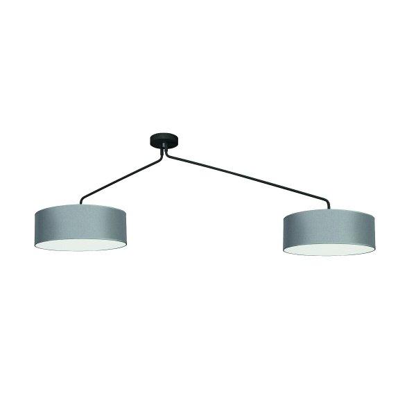 NOWODVORSKI 7948 FALCON LAMPA SUFITOWA SZARA Z ABAŻUREM DO SALONU