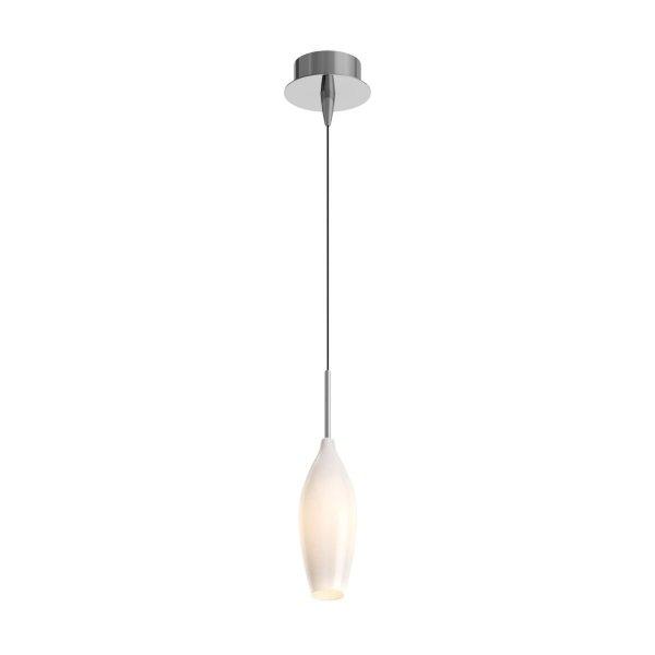 ZUMA LINE MD2101-1W CHAMPAGNE LAMPA WISZĄCA BIAŁA TUBA SZKLANA NAD STÓŁ