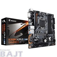 Płyta Gigabyte B360M AORUS GAMING 3 /B360/DDR4/SATA3/USB<br />3.0/PCIe3.0/s.1151/u<br />ATX