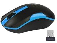 Mysz bezprzewodowa A4Tech V-TRACK G3-200N-1 Black+Blue WRLS