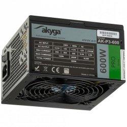 Zasilacz ATX 600W Akyga Pro AK-P3-600 Fan12cm P8 5xSATA 2xPCI-E