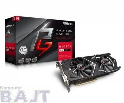 Karta VGA ASRock Phantom Gaming X Radeon RX570 8G OC GDDR5 256bit DVI+HDMI+3xDP PCIe3.0