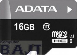 Karta pamięci ADATA microSDHC Premier 16GB UHS-I Class 10 + adapter