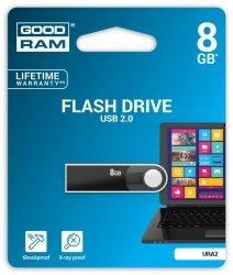 Pendrive GOODRAM 8GB URA2 USB 2.0 Black