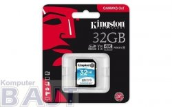 Karta pamięci Kingston SDHC Canvas Go 32GB UHS-I U3 V30