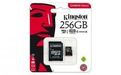 Karta pamięci Kingston microSDXC Canvas Select 256GB UHS-I Class 10 + adapter