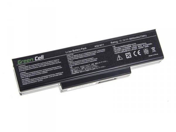 Bateria Green Cell do Asus K72 K73 N71 N73 A32-K72 9 cell 11,1V