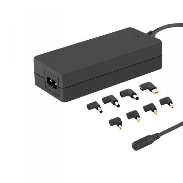 Zasilacz sieciowy uniwersalny Qoltec 65W automatyczny 8 wtyczek