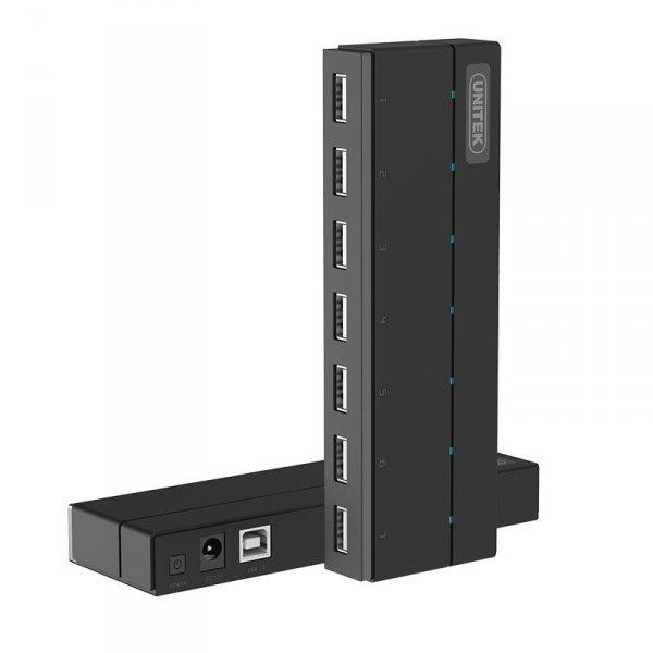 Hub USB Unitek Y-2191 7x USB 2.0 z zasilaczem
