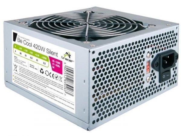 Zasilacz Tracer Be Cool 420W Silent 12cm ATX BOX + kab.