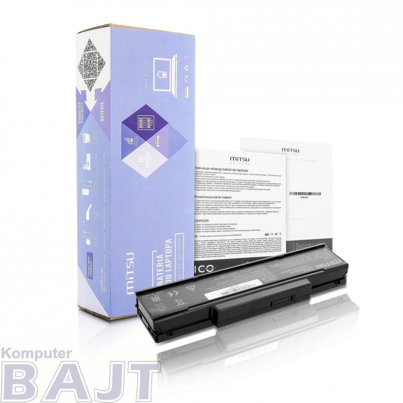 Bateria Mitsu do notebooka Asus F2, F3, Z94, Z96