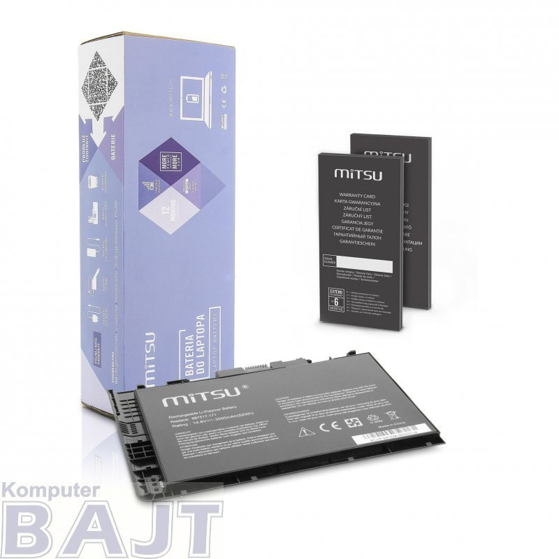Bateria Mitsu do notebooka HP EliteBook Folio 9470m