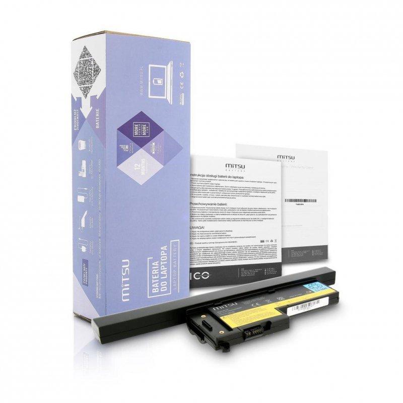 Bateria Mitsu do notebooka IBM X60, X60s (14.4V-14.8V) (4400 mAh)