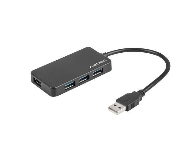 Hub USB Natec Moth 4xUSB 3.0 czarny