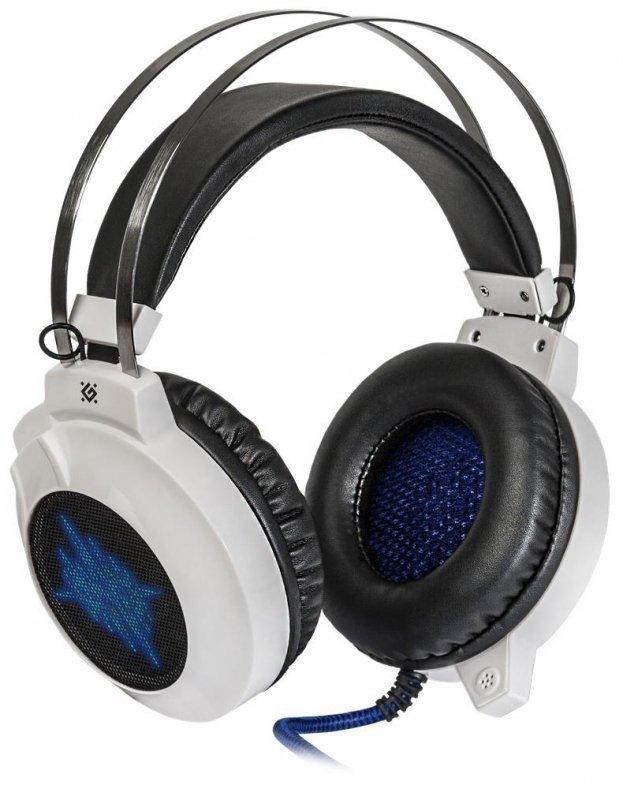 Słuchawki z mikrofonem Defender ICEFALL G-510D Gaming biało-niebieskie + GRA
