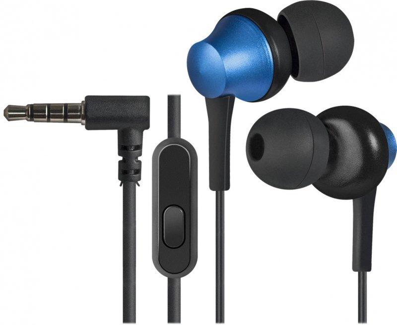Słuchawki z mikrofonem Defender PULSE 470 douszne 4-pin czarno-niebieskie