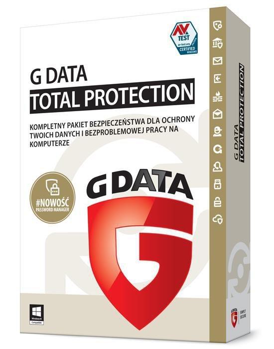 G DATA Total Protection KONT 1PC 1ROK BOX