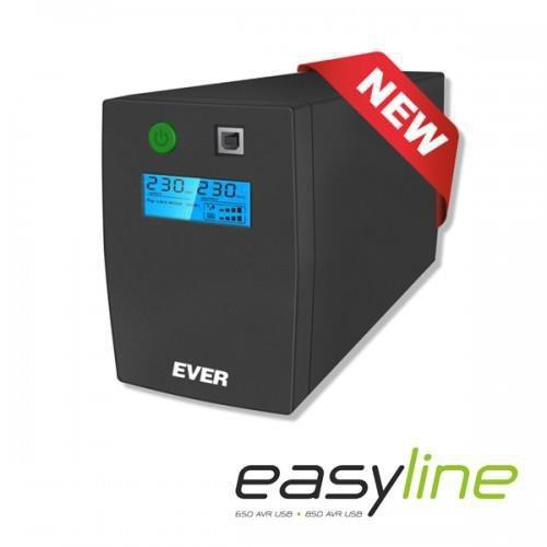 Zasilacz awaryjny UPS Ever Line-Interactive EASYLINE 850 AVR USB RJ-11 LCD Bl
