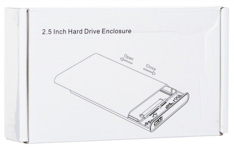 """Obudowa na dysk Encore OBAK88E (2.5""""; USB 3.0; Tworzywo sztuczne; kolor przeźroczysty)"""