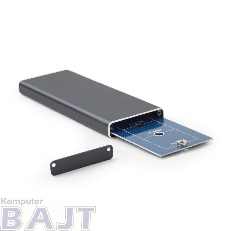 Kieszeń GEMBIRD EE2280-U3C-01 (M.2; Micro USB 3.0 B; Aluminium; kolor czarny)