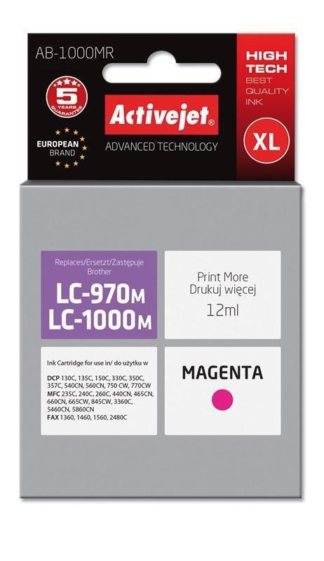 Tusz Activejet AB-1000MR (zamiennik Brother LC1000M/970M; Premium; 12 ml; czerwony)