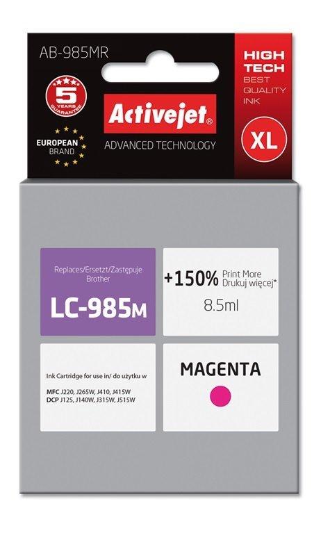 Tusz Activejet AB-985MR (zamiennik Brother LC985M; Premium; 8.5 ml; czerwony)