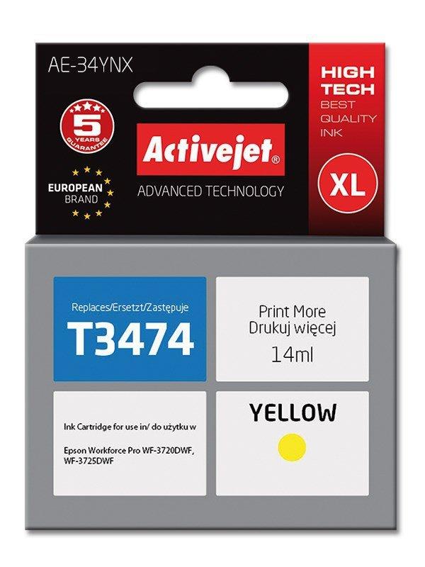 Tusz Activejet AE-34YNX (zamiennik Epson 34XL T3474; Supreme; 14 ml; żółty)