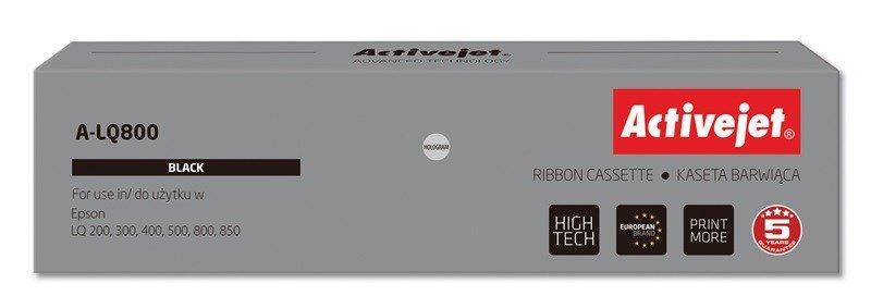 Kaseta barwiąca Activejet A-LQ800 (zamiennik Epson S015019 / S015021; Supreme; czarny)