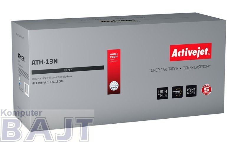 Toner Activejet ATH-13N (zamiennik HP 13A Q2613A; Supreme; 3000 stron; czarny)