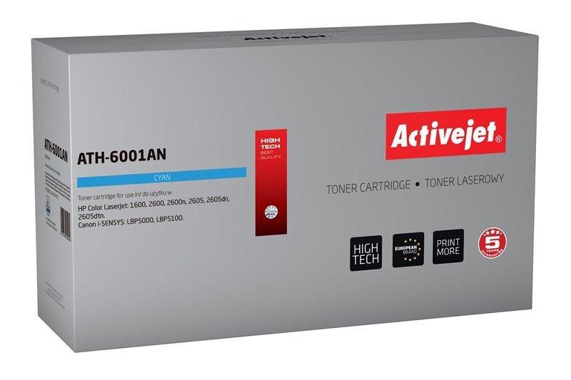 Toner Activejet ATH-6001AN (zamiennik HP 124A Q6001A, Canon CRG-707C; Premium; 2000 stron; niebieski)