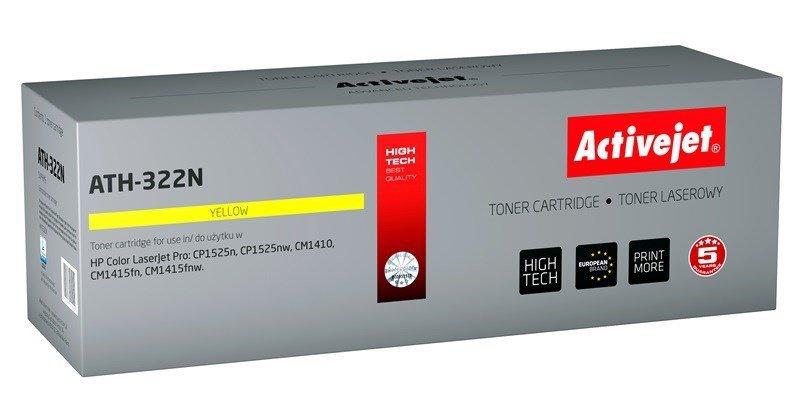 Toner Activejet ATH-322N (zamiennik HP 128A CE322A; Supreme; 1300 stron; żółty)