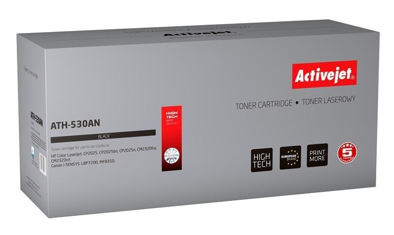 Toner Activejet ATH-530AN (zamiennik HP 304A CC530A, Canon CRG-718B; Premium; 3500 stron; czarny)