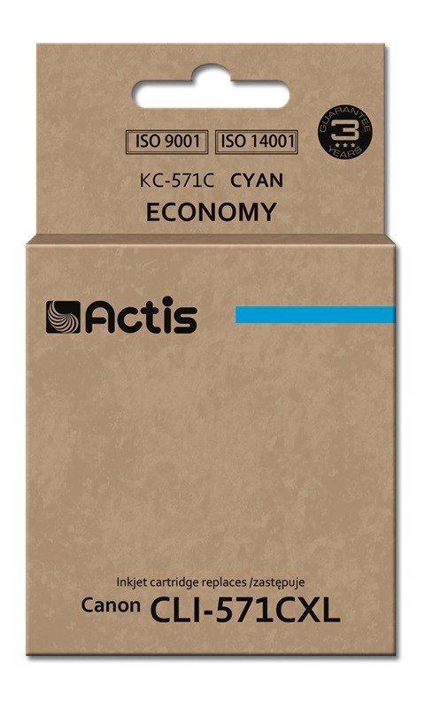 Tusz ACTIS KC-571C (zamiennik Canon CLI-571C; Standard; 12 ml; niebieski)