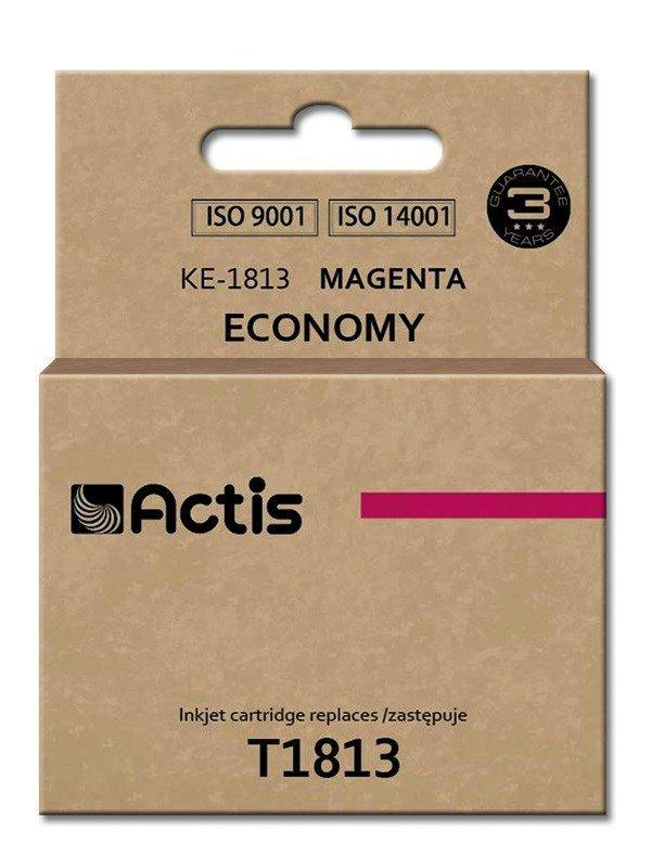 Tusz ACTIS KE-1813 (zamiennik Epson T1813; Standard; 15 ml; czerwony)