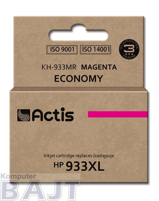 Tusz ACTIS KH-933MR (zamiennik HP 933XL CN055AE; Standard; 13 ml; czerwony)