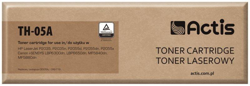 Toner ACTIS TH-05A (zamiennik HP 05A CE505A, Canon CRG-719; Standard; 2300 stron; czarny)