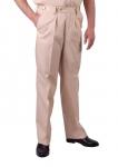 spodnie mundurowe beżowe z regulacją obwodu pasa