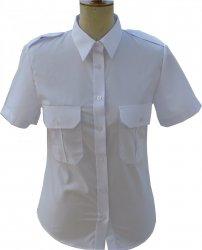 koszula damska mundurowa krótki rękaw biała