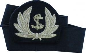 emblemat z otokiem do czapki złota kotwica w wieńcu (nr 4)