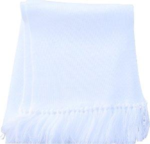 szalik zimowy koloru białego wzór 535A/MON