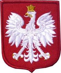 emblemat Godło RP w czerwonym polu tarczy, wzór 813/MON