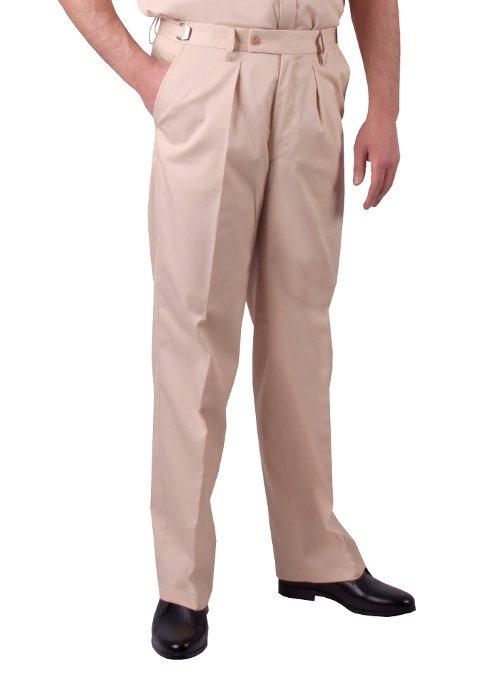 spodnie mundurowe koloru beżowego