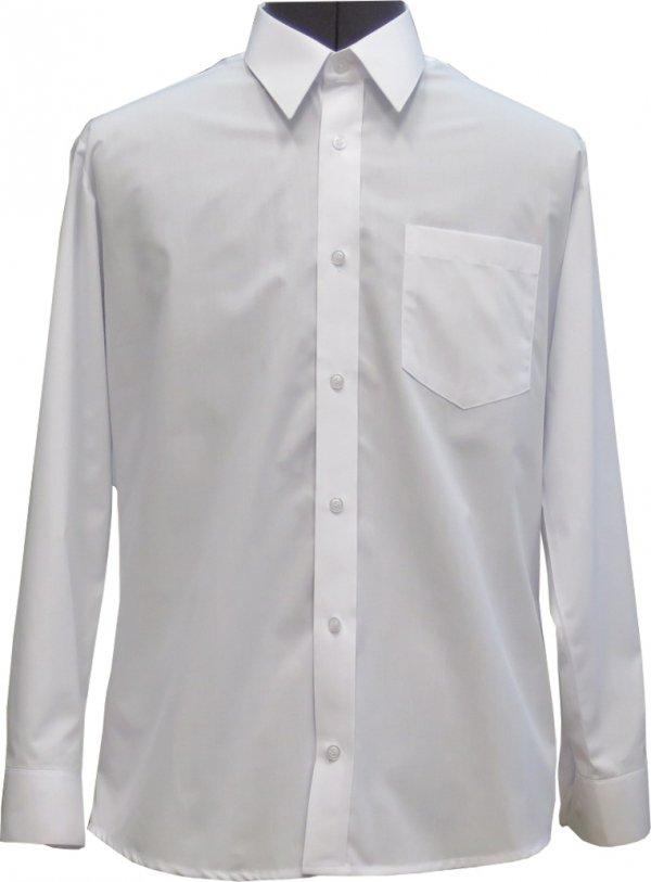 koszula z długim rękaw biała