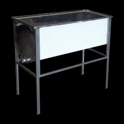Wzmacniany stół do odsklepiania - 1,5m (Stal kwasoodporna/0,8mm)
