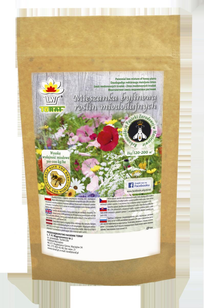 Mieszanka bylinowa 21 roślin miododajnych na tereny suche (500g)