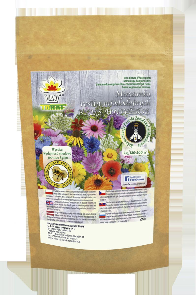 Mieszanka 20 roślin miododajnych 'BEE'S UNIVERSE' (1000g)