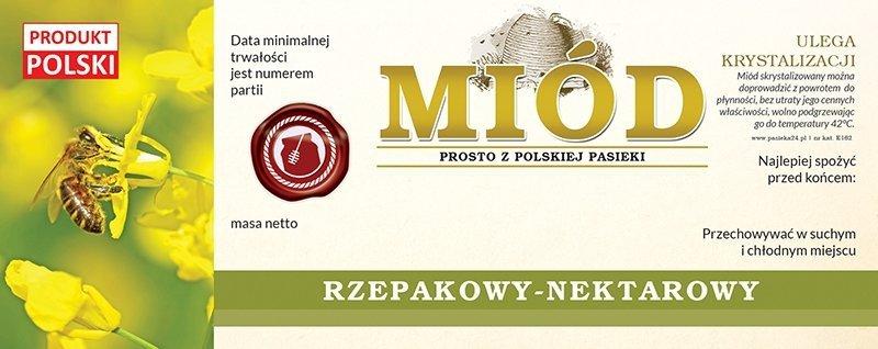Paczka etykiet na miód rzepakowy 154x60 (100szt)